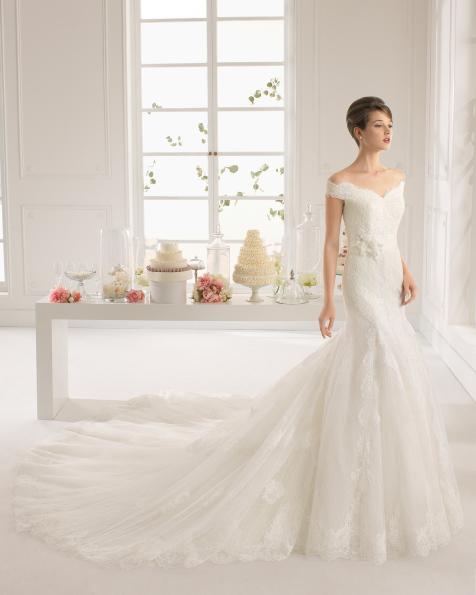 Amatista vestido de novia Aire Barcelona