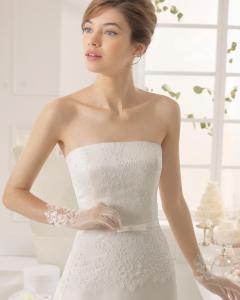 Aquiles vestido de novia corte evasé