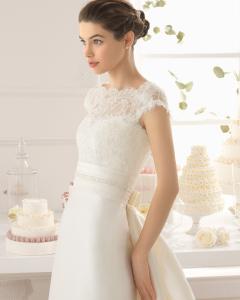 Arlette vestido de novia corte recto