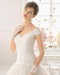 Asunta vestido de novia corte A