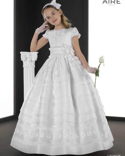 Leonor vestido de comunión corte evasé