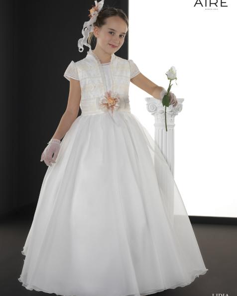 Lidia vestido de comunión corte evasé