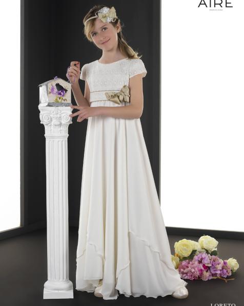 Loreto vestido de comunión corte evasé
