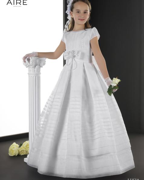 Lucia vestido de comunión corte evasé