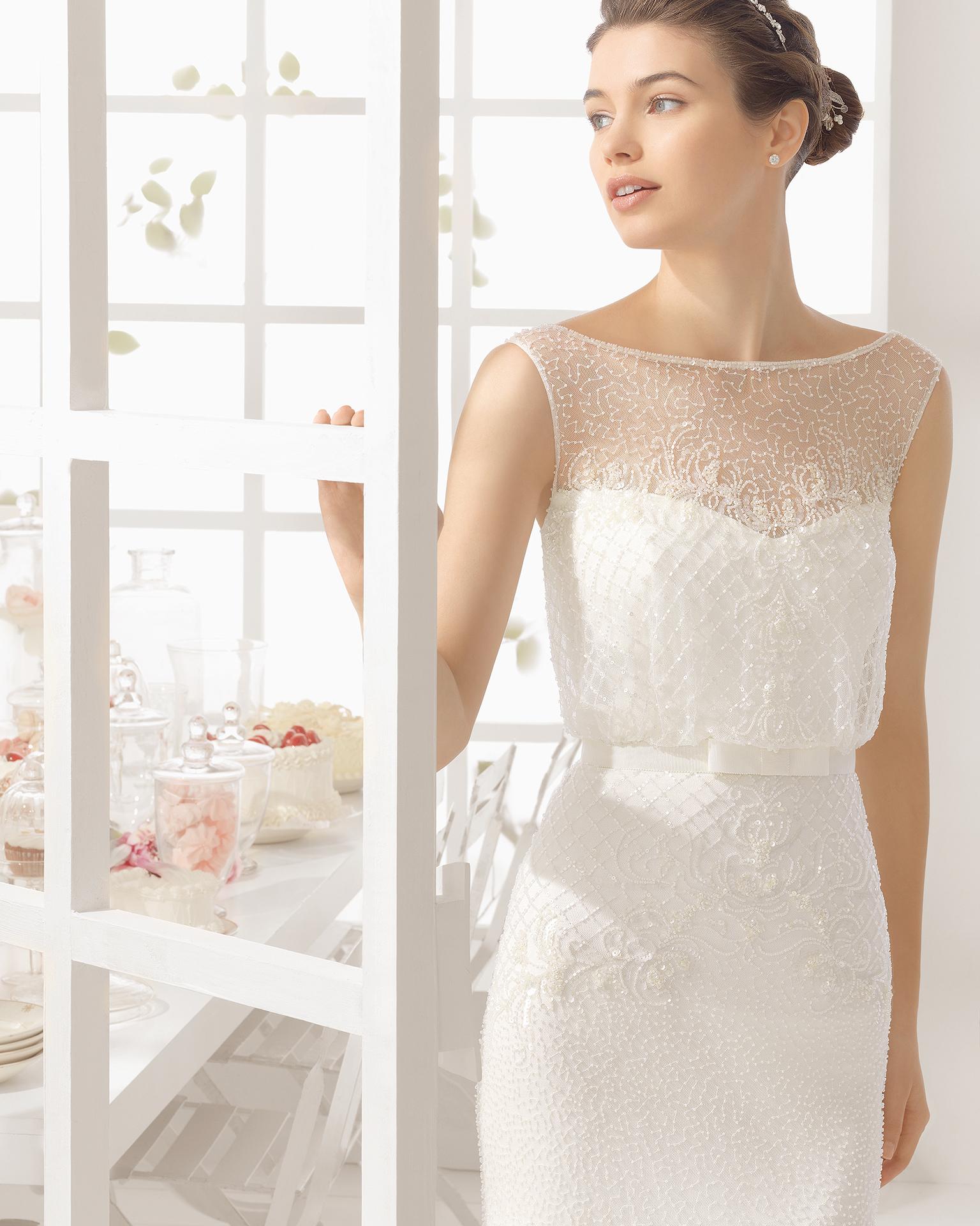 MAEL wedding dress - Aire Barcelona 2016.