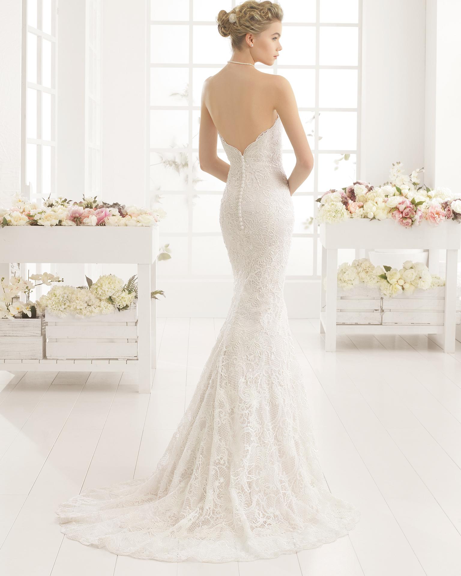 MALORY guipure wedding dress.