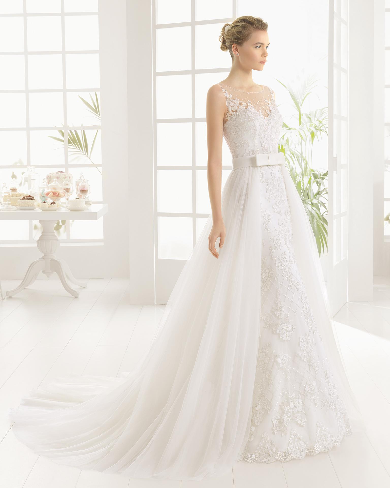 MARITZA beaded lace and tulle wedding dress.