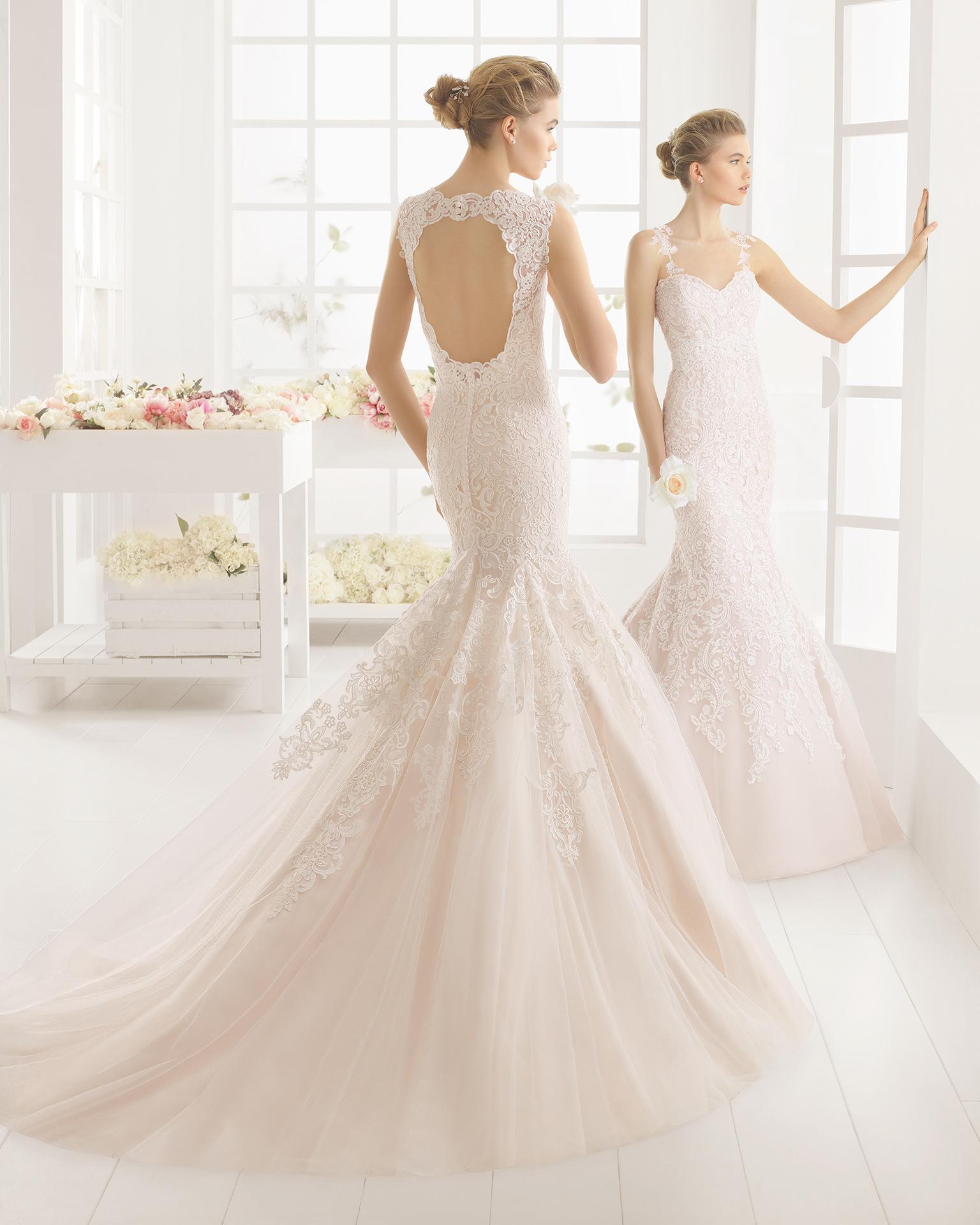 MATILDE Hochzeitskleid aus Spitze.