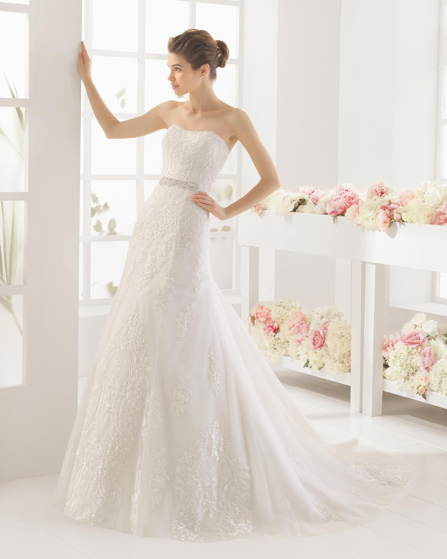 MAURICIO beaded lace wedding dress.