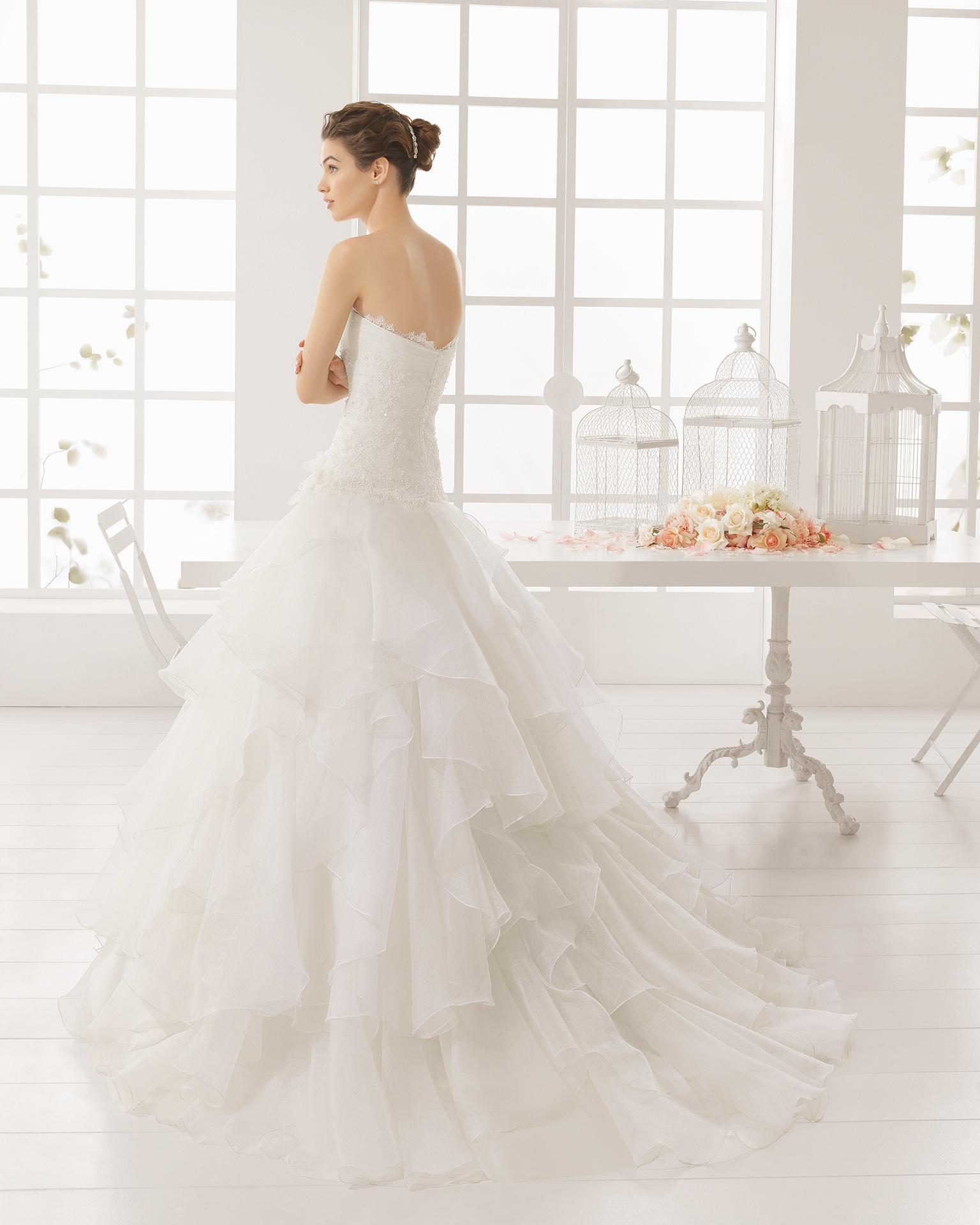 MELINA beaded royal organza and lace wedding dress.