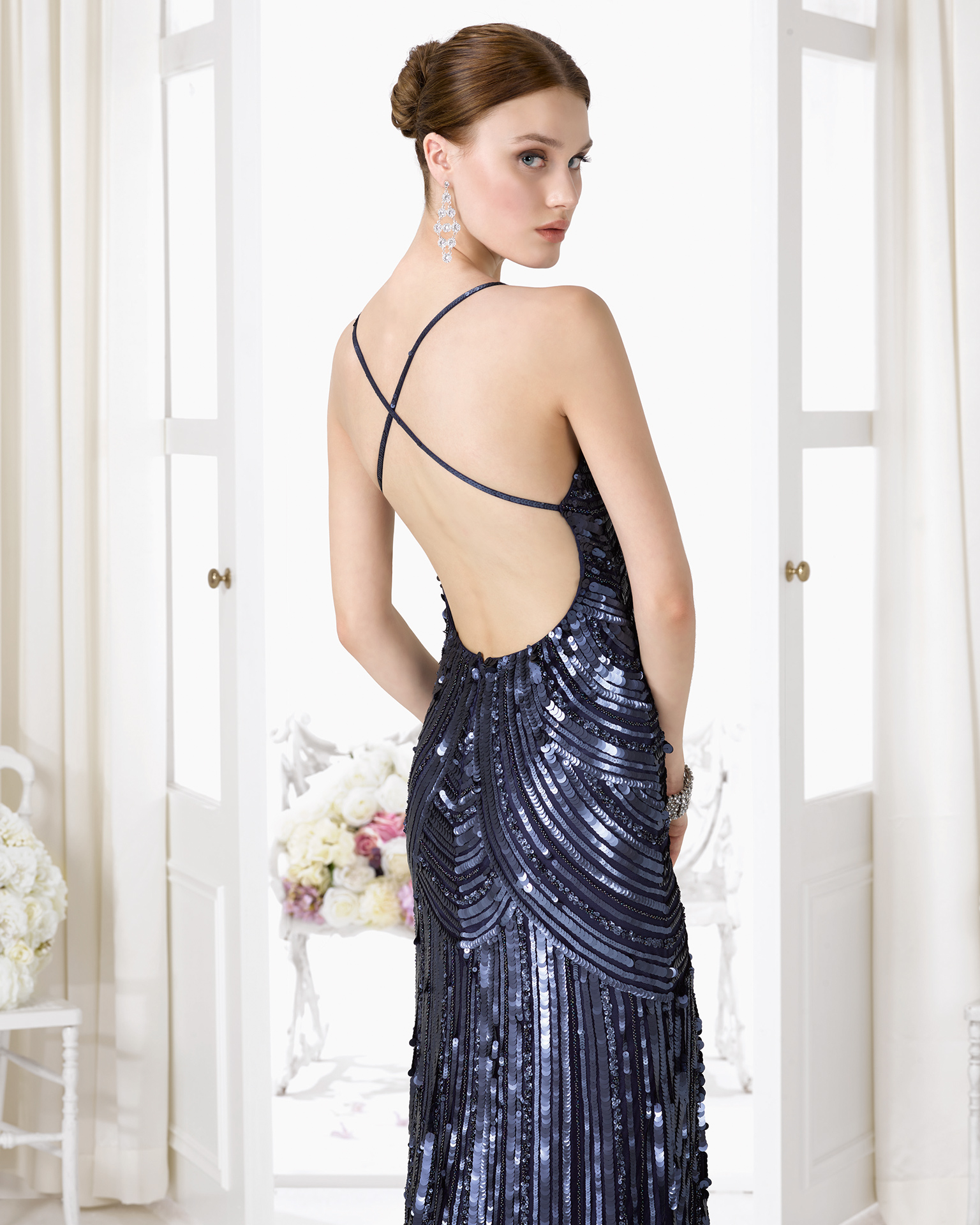 9U2C9 - Beaded cocktail gown.