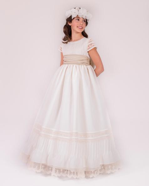 90142 vestido de comunión corte evasé