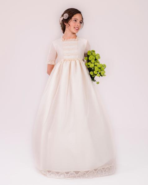 90144 vestido de comunión corte evasé