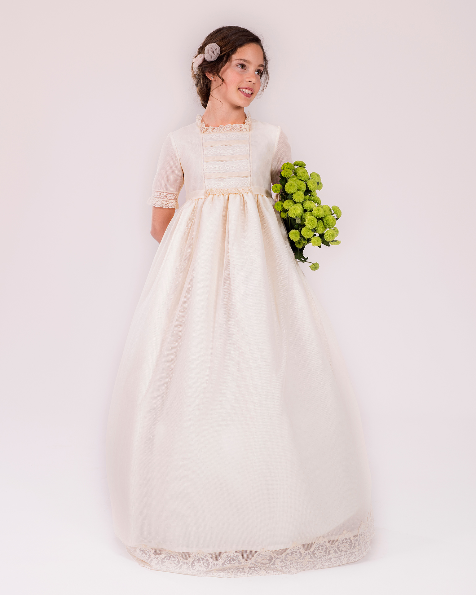 90144 ballgown-style First Communion dress