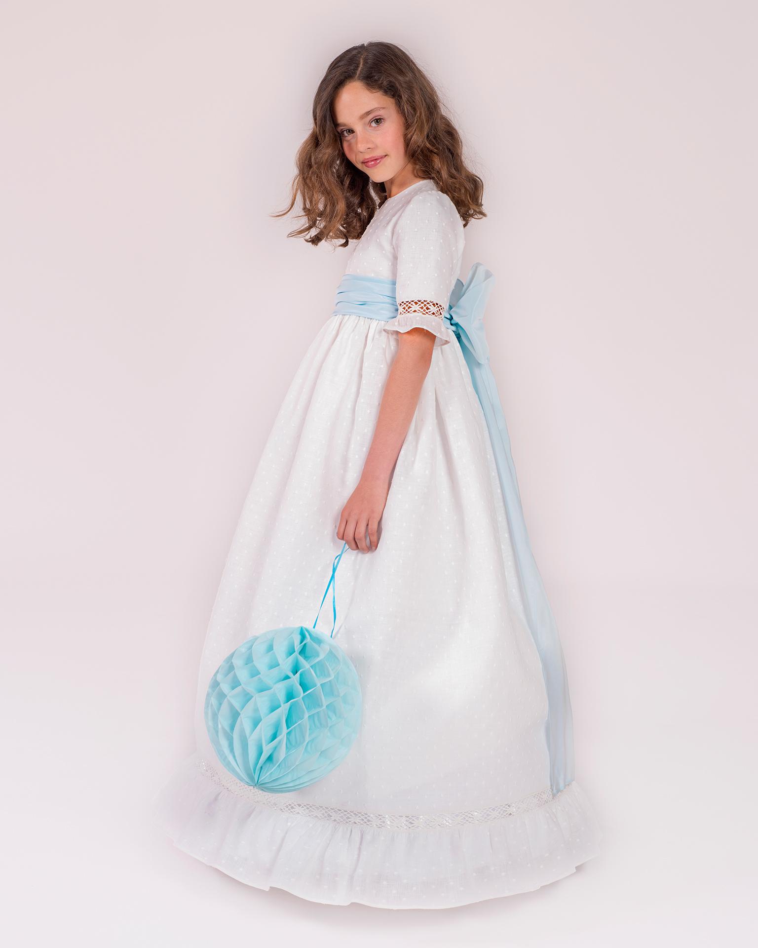 90150 rochie pentru prima comuniune cu croială evazată