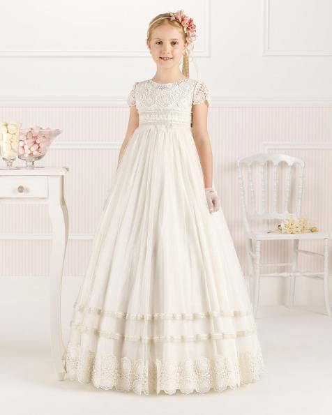 9O103 vestido de comunión corte evasé