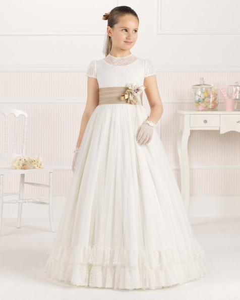 9O104 vestido de comunión corte evasé
