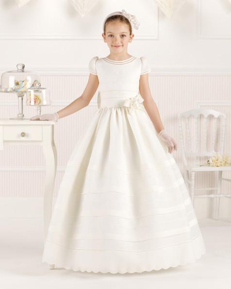 9O112 vestido de comunión corte evasé