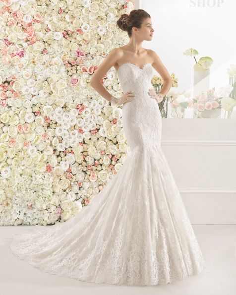 CALEM wedding dress - Aire Barcelona 2017