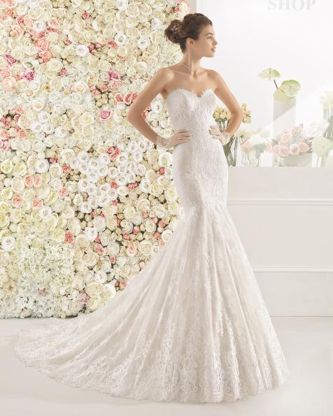 CALEM robe de mariée Aire Barcelona 2017