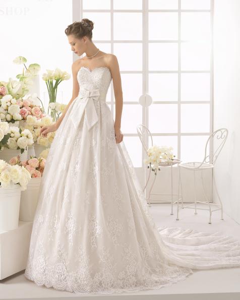 CALETA robe de mariée Aire Barcelona 2017