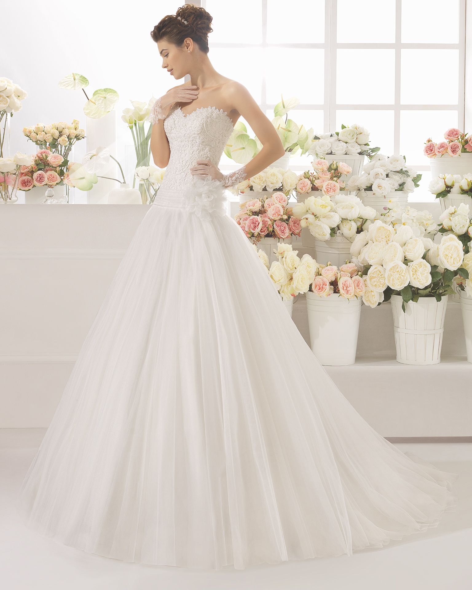 CAÑIZAL vestido de novia Aire Barcelona 2017