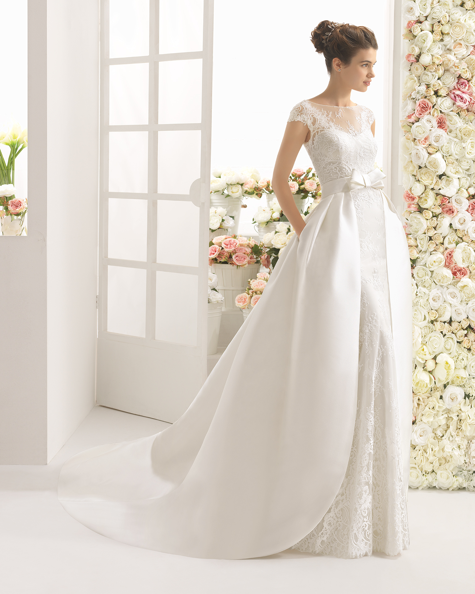 CARIZ wedding dress - Aire Barcelona 2017