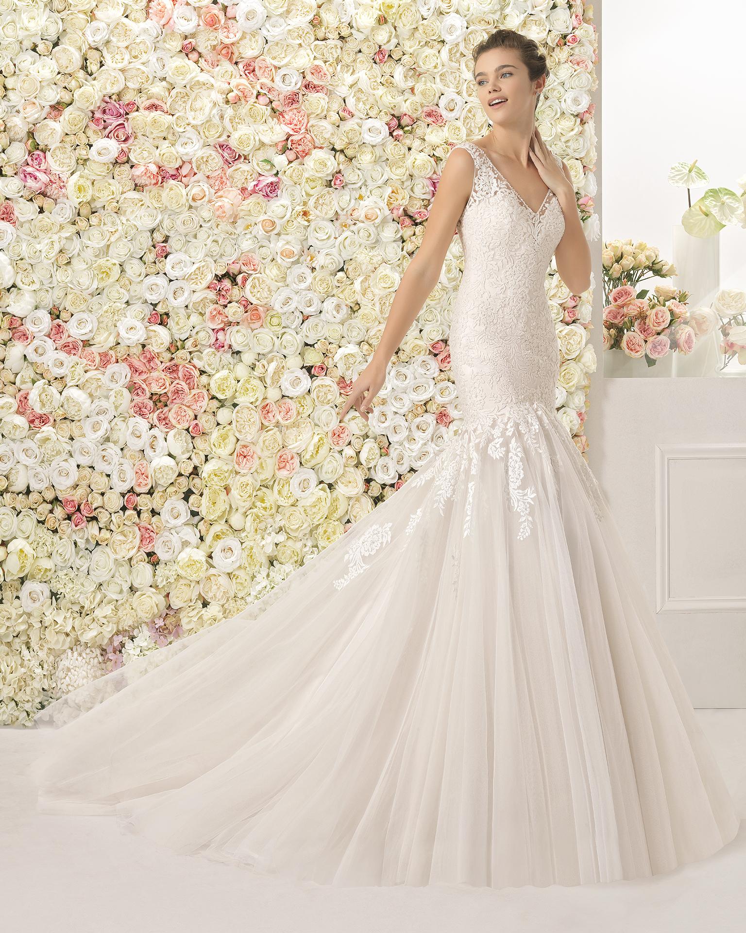 CASIS vestido de novia Aire Barcelona 2017