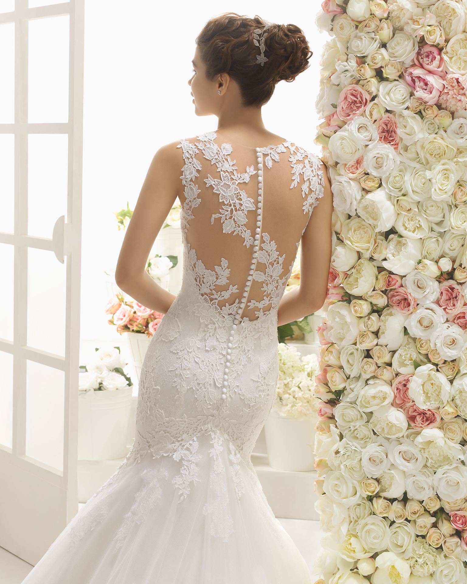 CASTIEL vestido de novia Aire Barcelona 2017