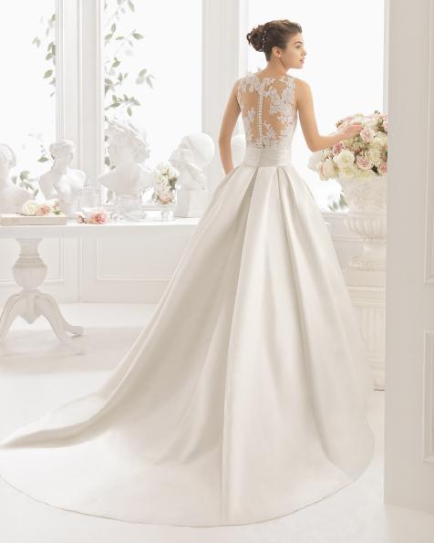 CIRA vestido de noiva Aire Barcelona 2017