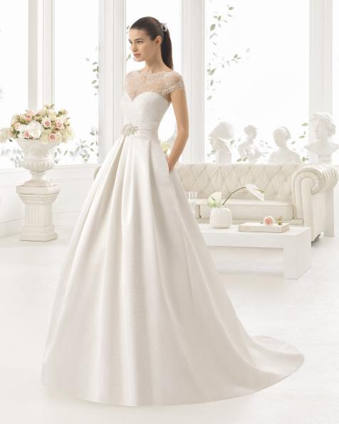 CISTEL robe de mariée Aire Barcelona 2017