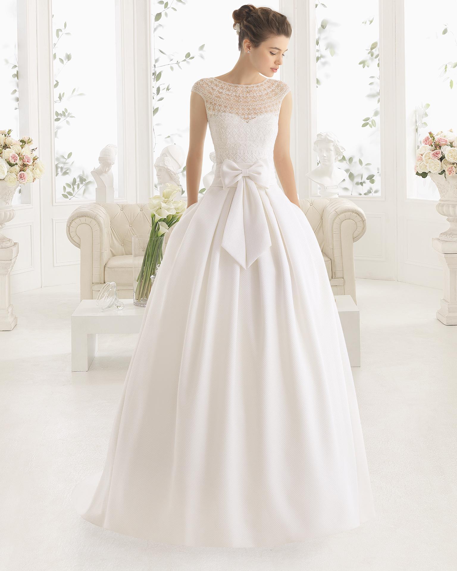 MIEL robe de mariée Aire Barcelona 2017