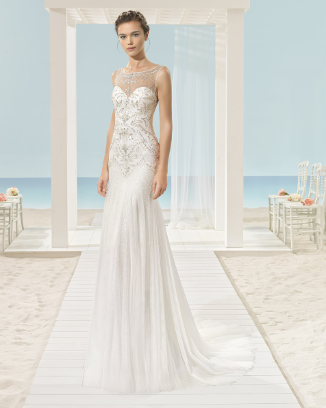 XACOB beaded tulle dress.