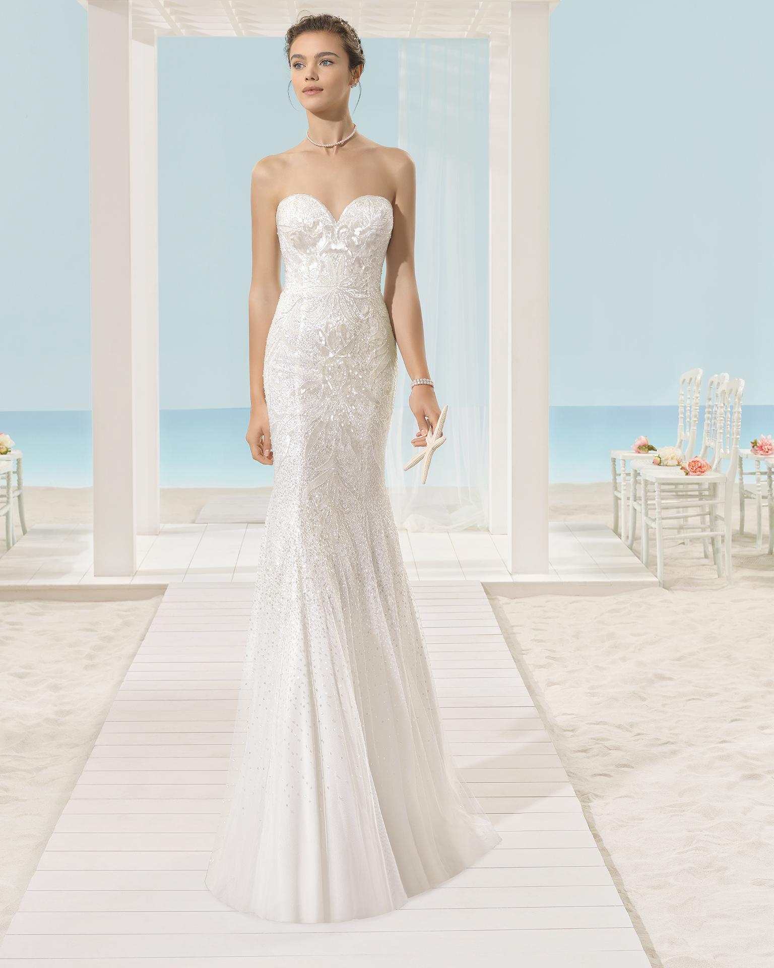 XALLY rochie de mireasă Aire Barcelona Beach Wedding 2017