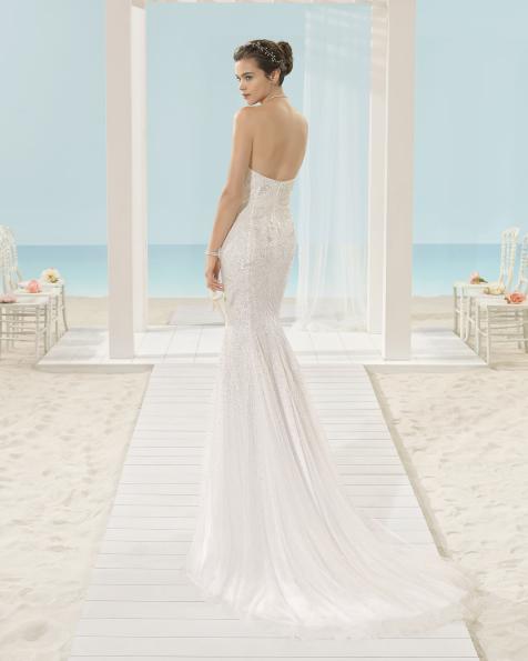 XALLY vestido de novia Aire Barcelona Beach Wedding 2017