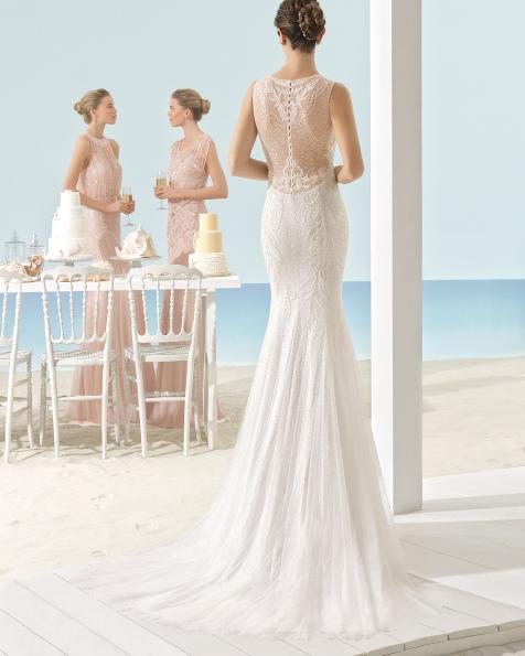 XALOC vestido de novia Aire Barcelona Beach Wedding 2017