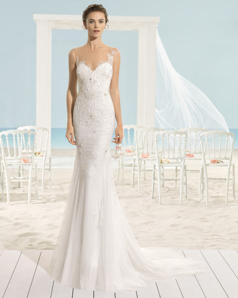 XAMAN vestido de novia Aire Barcelona Beach Wedding 2017