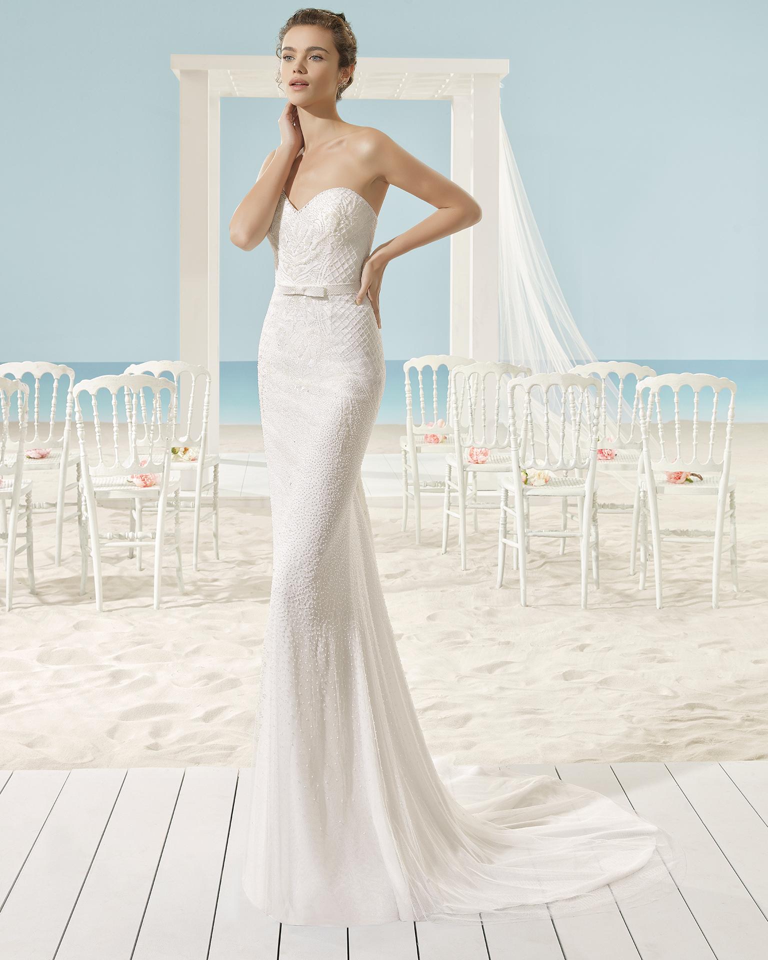 XANADU rochie de mireasă Aire Barcelona Beach Wedding 2017