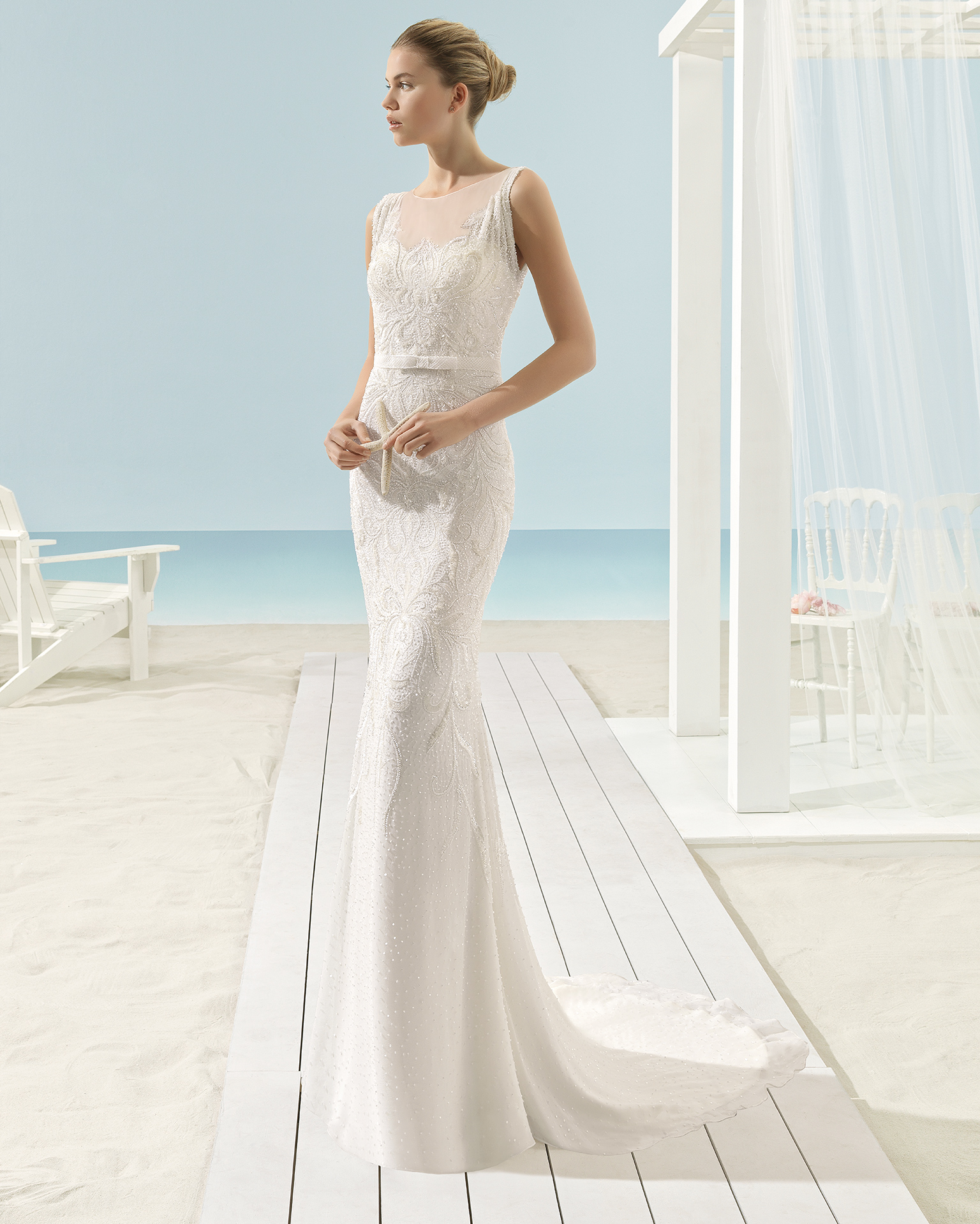 XANAT Abito da sposa Aire Barcelona Beach Wedding 2017