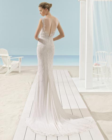 XANAT vestido de novia Aire Barcelona Beach Wedding 2017