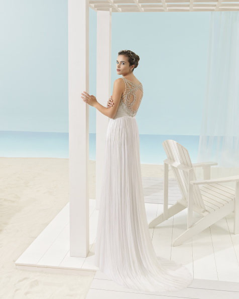 XANDY wedding dress - Aire Barcelona Beach Wedding 2017