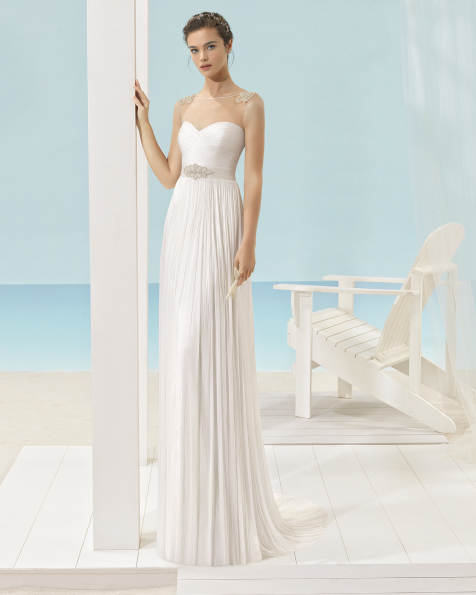 XANDY silk muslin dress with beaded back.