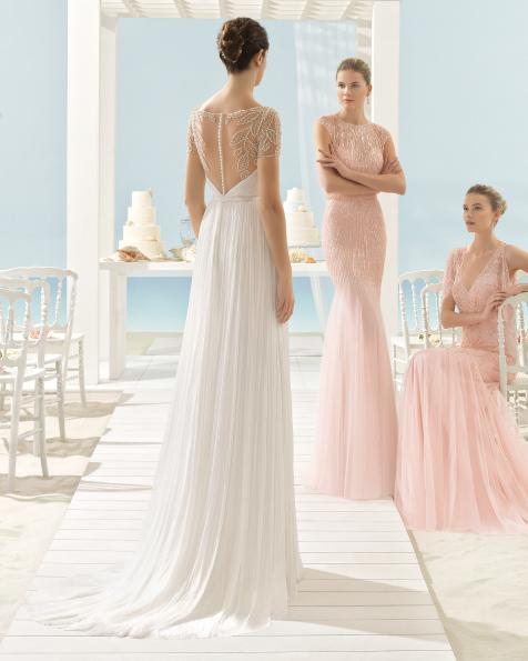 XANTHAL vestido de novia Aire Barcelona Beach Wedding 2017