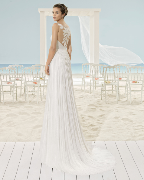 XANTIC vestido de novia Aire Barcelona Beach Wedding 2017