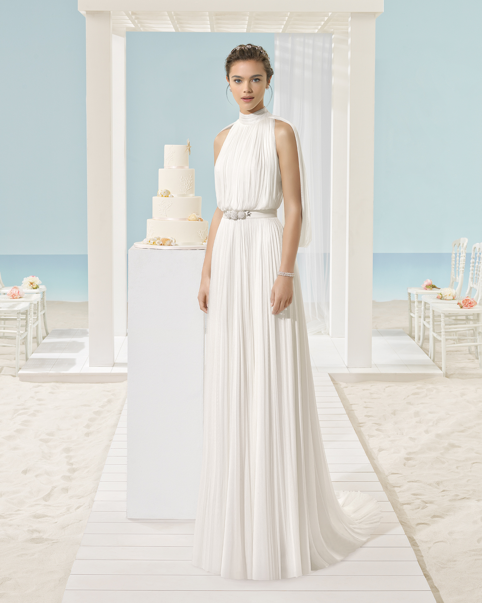 XANTINA Abito da sposa Aire Barcelona Beach Wedding 2017