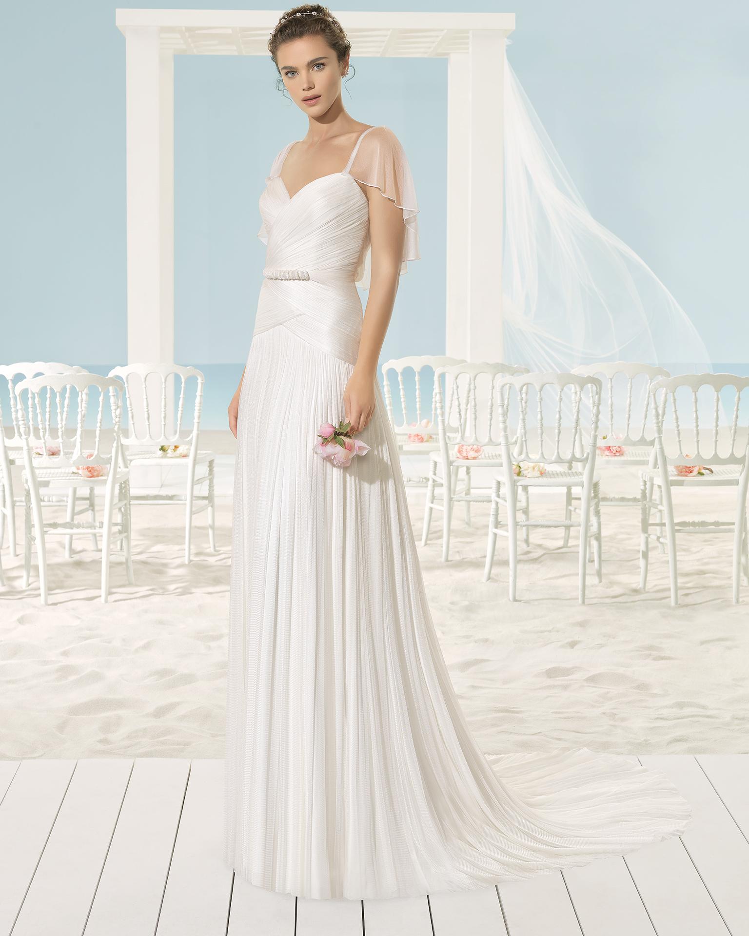 XARA rochie de mireasă Aire Barcelona Beach Wedding 2017