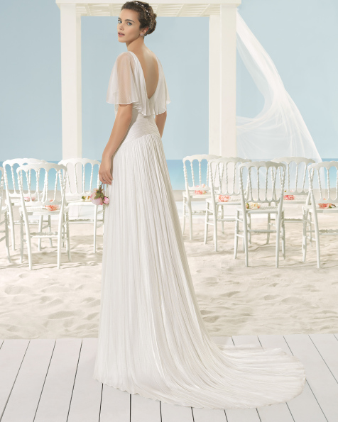 XARA rochie vaporoasă din muselină de mătase.