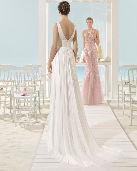 XAREN vestido de novia Aire Barcelona Beach Wedding 2017