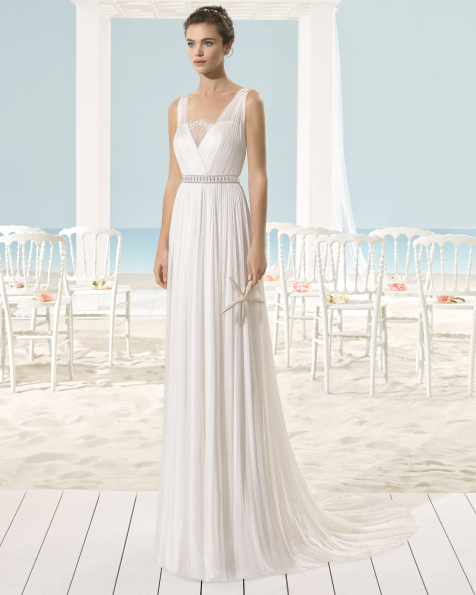XARIA vestido de noiva Aire Barcelona Beach Wedding 2017