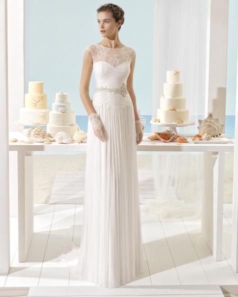 XENIA vestido de novia Aire Barcelona Beach Wedding 2017